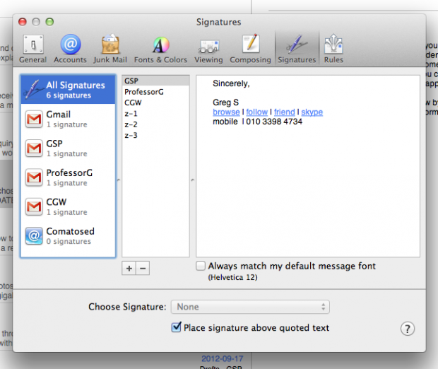 Signature Disappears After Closing Mac Mail (Versioin 6.2   Mountain Lion OS X)   FIX Photo