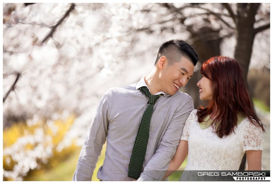 Seoul Korea Cherry Blossom Engagement Photography