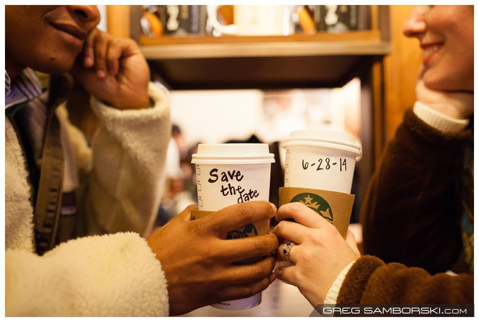 Save The Date Starbucks Coffee Cups